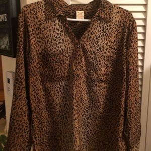 Faded Glory Tops - Cheetah Silky Shirt 2XL BRAND NEW, Gorgeous!!